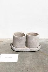 concrete pot round S set