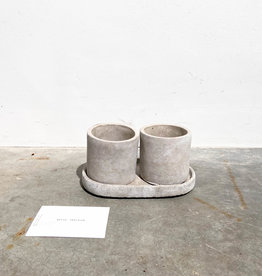 concrete pot round S set