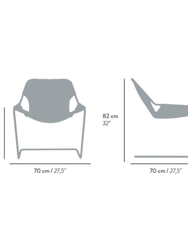 objekto Paulistano armchair outdoor /white-paprika