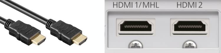 HDMI aansluiting voorbeeld