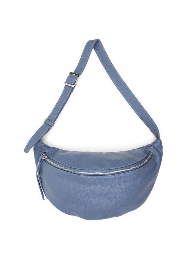 Big zipper bag - Rust blue