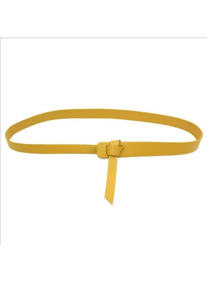 Twist belt - Moutarde