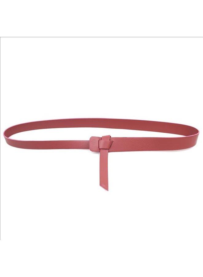 Twist belt - Rust pink