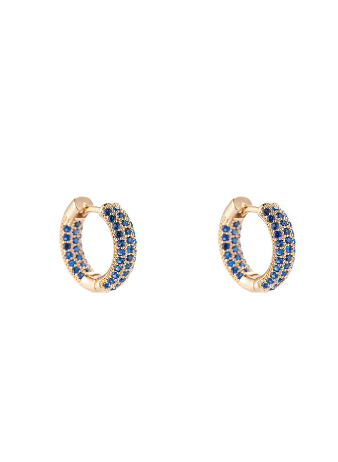 Color hoop gold plated - Blue stone