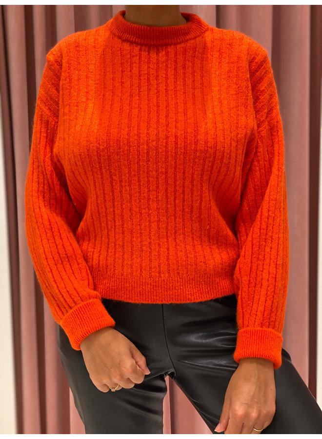 Rib sweater - Orange