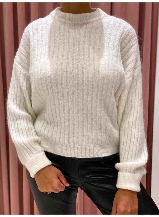 Rib sweater - Winter white