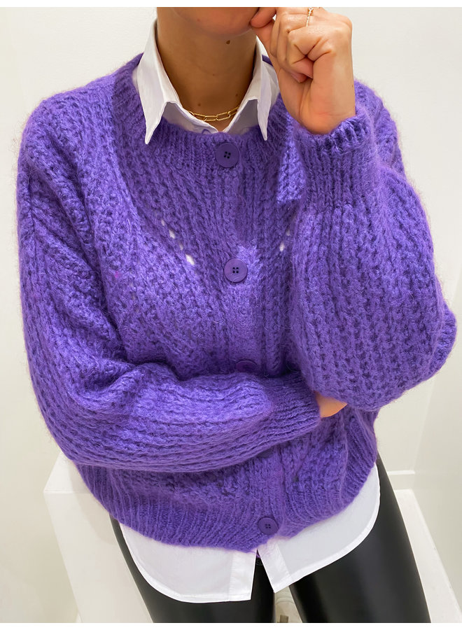 CROCHET VEST - PURPLE