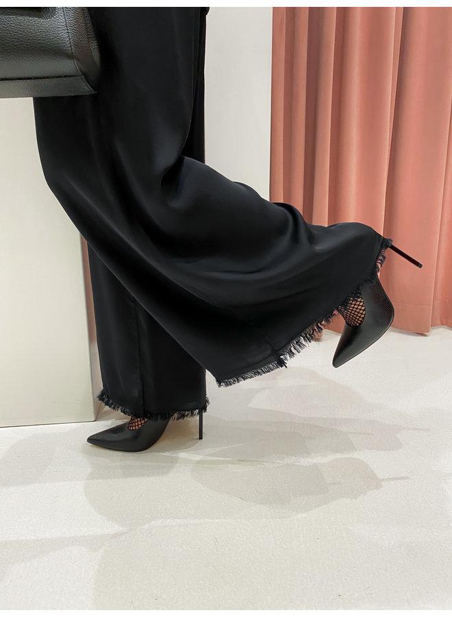 SILK PANTS - BLACK