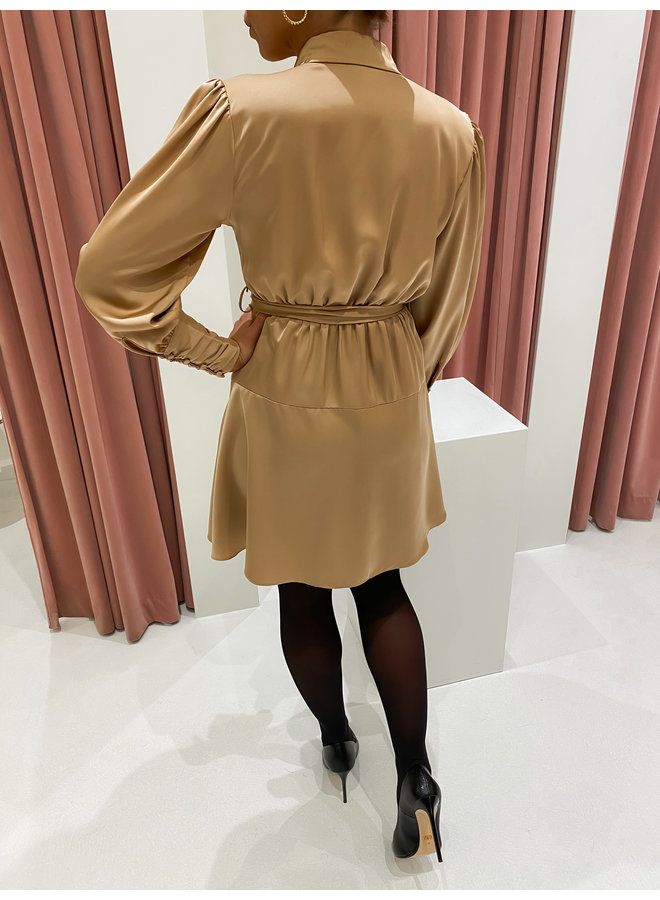 SILK BUNDLE DRESS - GOLD