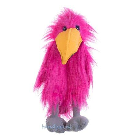 The Puppet Company roze vogel handpop