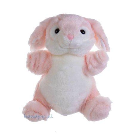 The Puppet Company handpop roze knuffel konijn