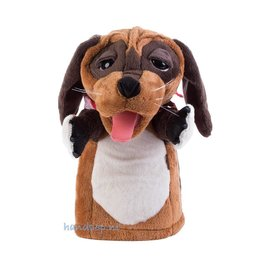 Folkmanis handpop hond met zakdoek