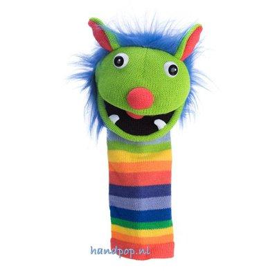 The Puppet Company handpop Sockette Rainbow