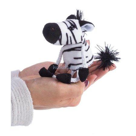 The Puppet Company vingerpopje zebra