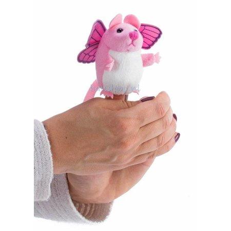 The Puppet Company vingerpopje roze muis