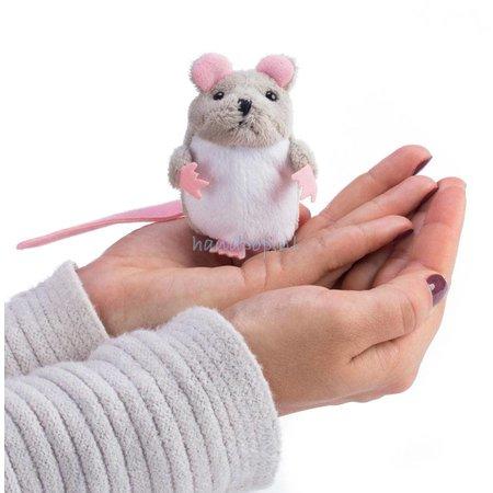 The Puppet Company vingerpopje grijze muis