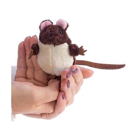 The Puppet Company vingerpopje bruine muis