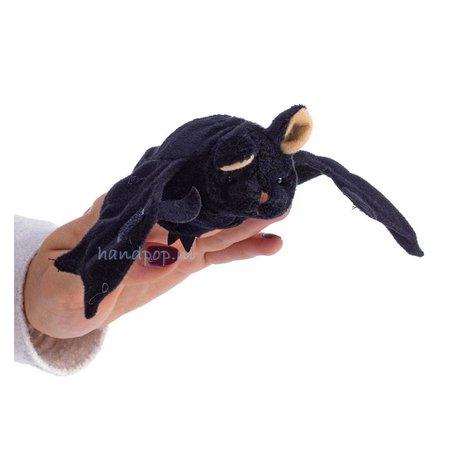 The Puppet Company vingerpopje zwarte vleermuis