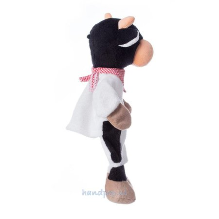 Sterntaler poppenkastpop Koe zwart wit