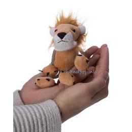 The Puppet Company leeuw vingerpopje