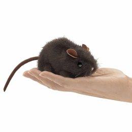 Folkmanis muis donkerbruin vingerpopje