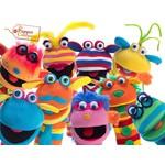 De Sockettes zijn de knotsgekke en kleurrijke sokpoppen van The Puppet Company