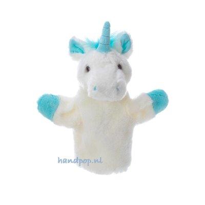 The Puppet Company handpop eenhoorn blauw car pet