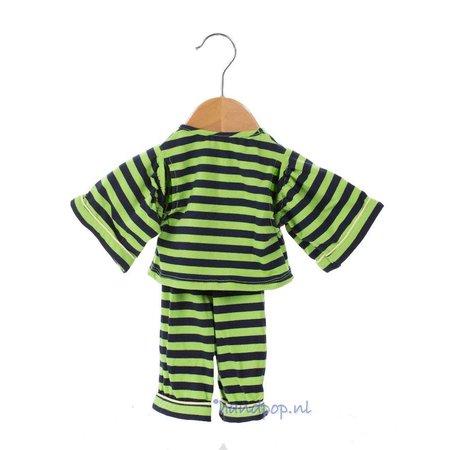 Living Puppets Pyjama blauw/groen voor menspop van 45 cm