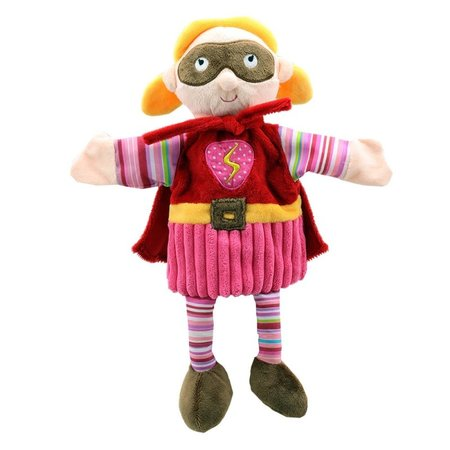 The Puppet Company roze Super Held