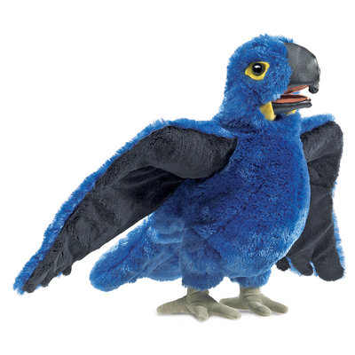 Folkmanis handpop papegaai (blauwe ara)
