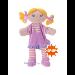 Trudi handpop rag doll roze