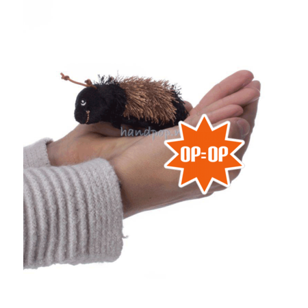 The Puppet Company vingerpopje rups bruin