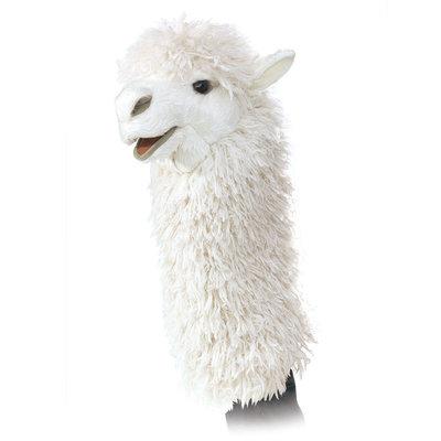 Folkmanis handpop / stagepuppet alpaca
