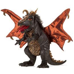 Folkmanis handpop zwarte draak