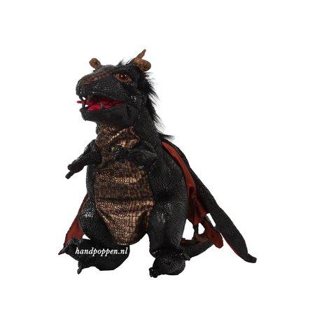 Folkmanis Zwarte draak met vleugels