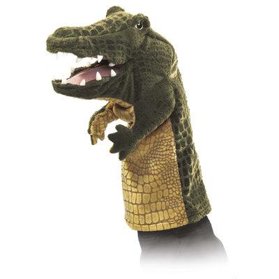 Folkmanis handpop / stagepuppet krokodil