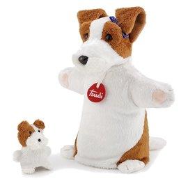 Trudi handpop hond met jong