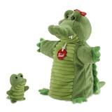 Trudi handpop krokodil met jong