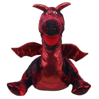The Puppet Company handpop draak rood