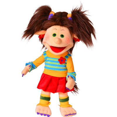Living Puppets handpop Trientje de trol 45 cm