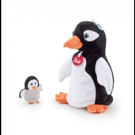 Trudi handpop pinguin met jong