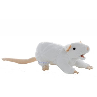 Folkmanis handpop rat wit