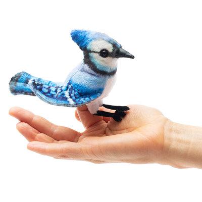 Folkmanis blauwe gaai vingerpopje
