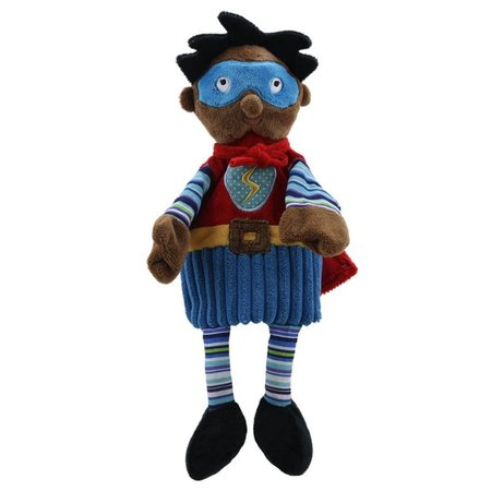 The Puppet Company blauwe Super Held donker