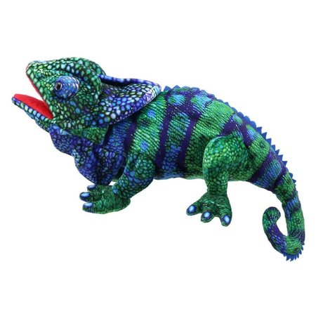 The Puppet Company Kameleon blauw-groen