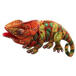 The Puppet Company handpop kameleon oranje