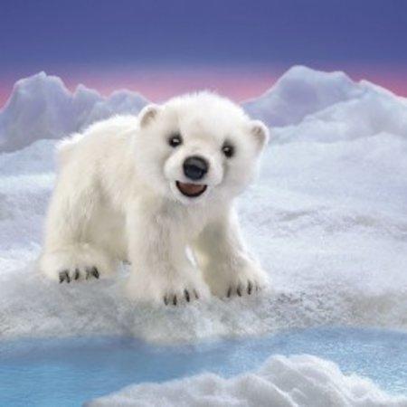 Folkmanis handpop ijsbeer baby