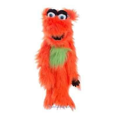 The Puppet Company handpop monster oranje Snaspel