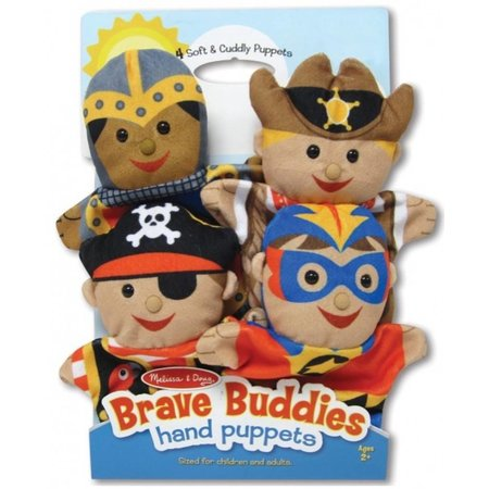Melissa & Doug poppenkastpoppen set van 4 stoere vrienden
