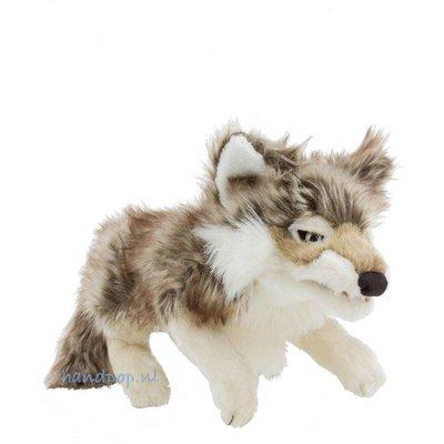Folkmanis handpop wolf grijs